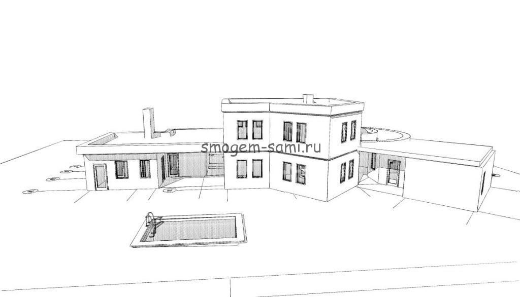 каркасный дом проект фото