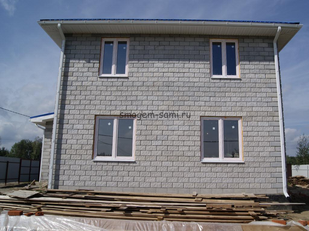 строительство дома из керамзитобетонных блоков своими руками фото
