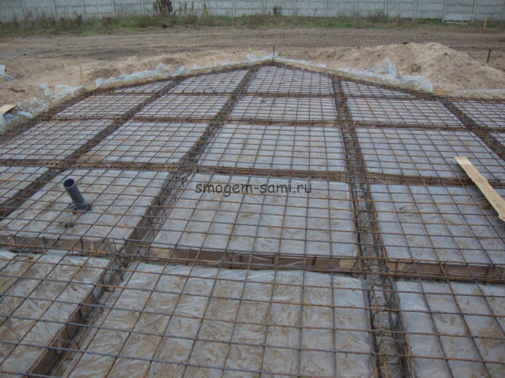 фото фундамент из монолитных плит