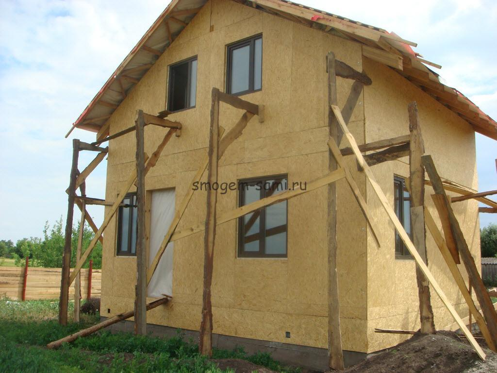 как построить дом на даче из ОСБ фото