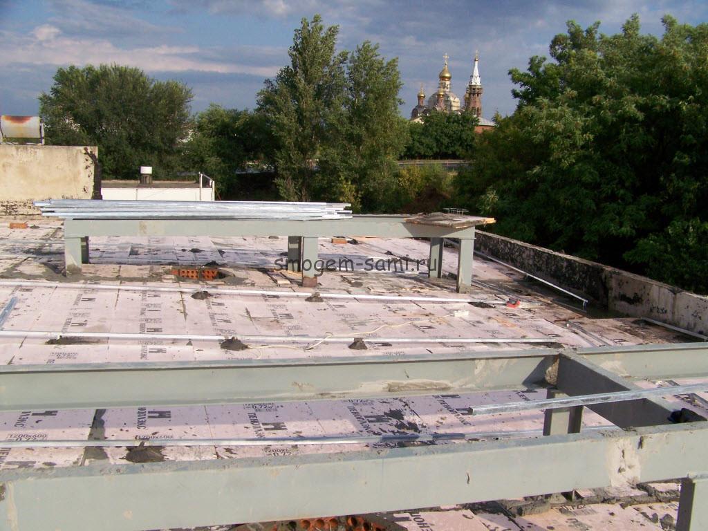 утепление крыши пеноплексом фото