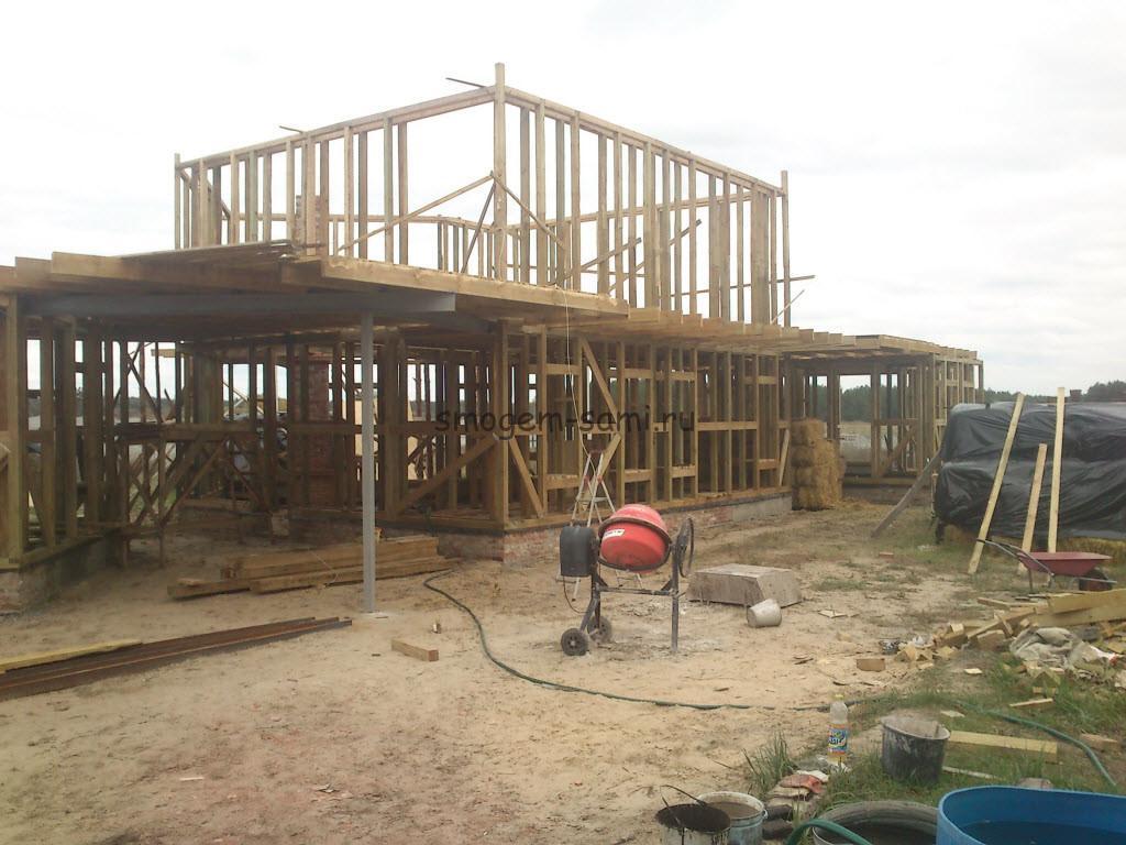 строительство каркаса дома из экологически чистых материалов фото