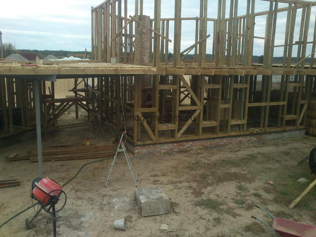 фото строительство каркасного дома из экологически чистых материалов