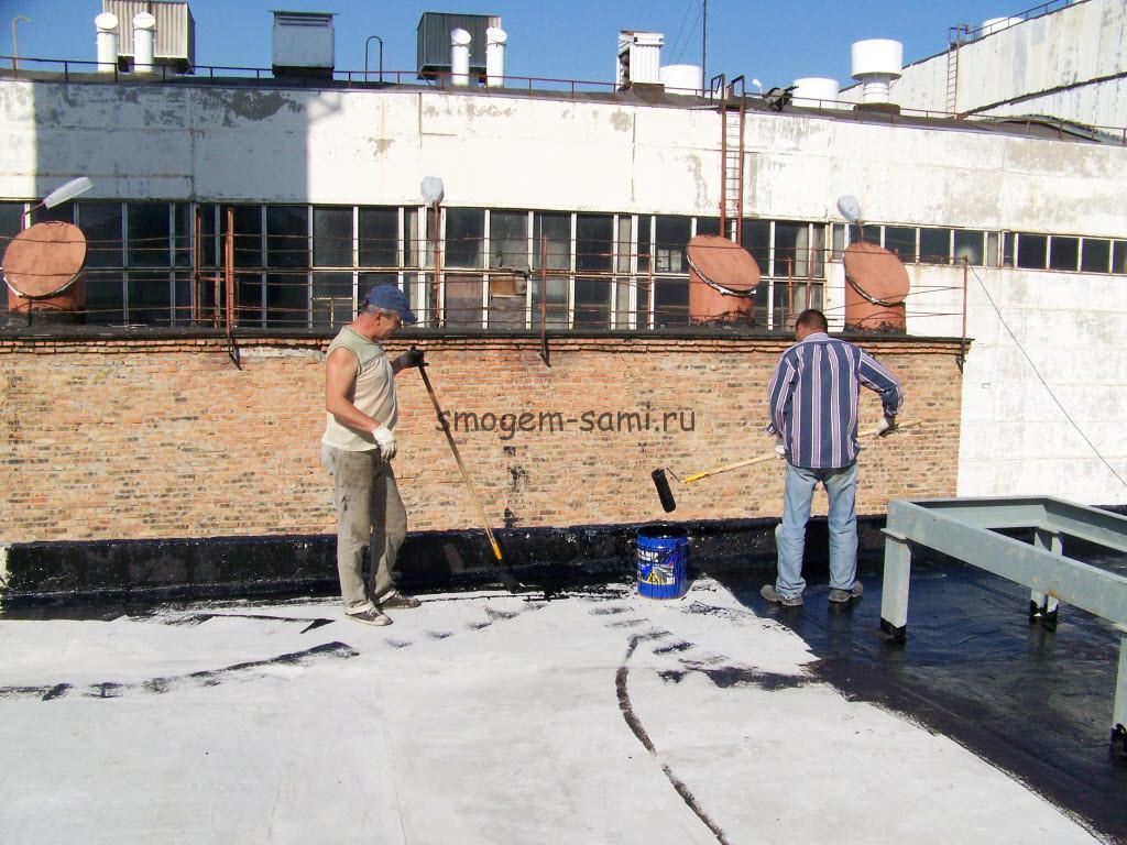 течет плоская крыша что делать фото