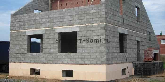 Построить дом из блока видео