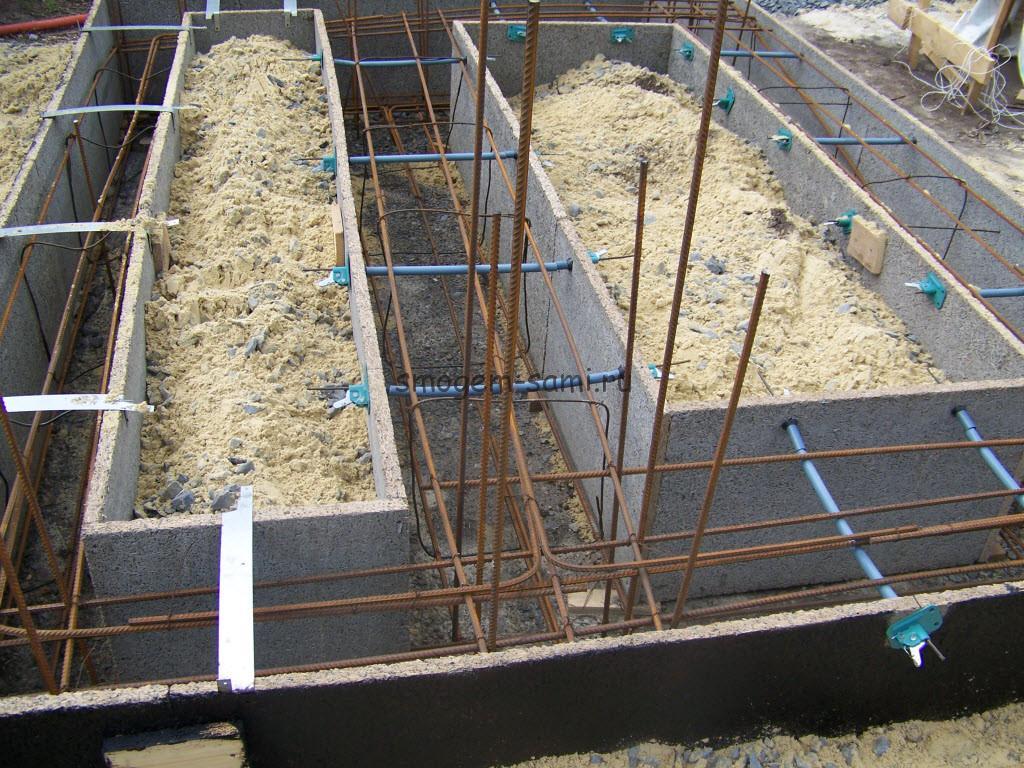 Как сделать ленточный фундамент с цементно стружечной плитой для опалубки фото