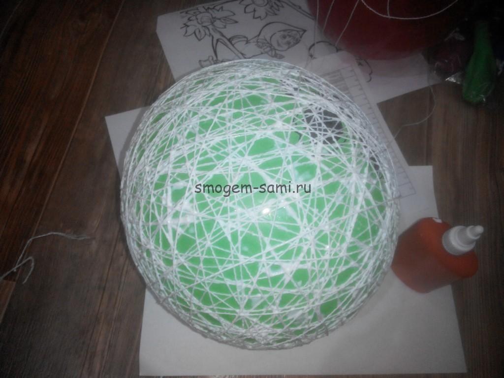новогодняя поделка шар