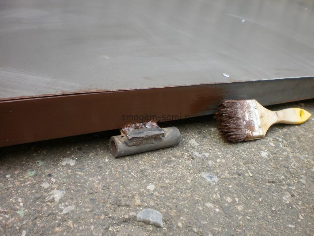 окрашивание железной двери фото
