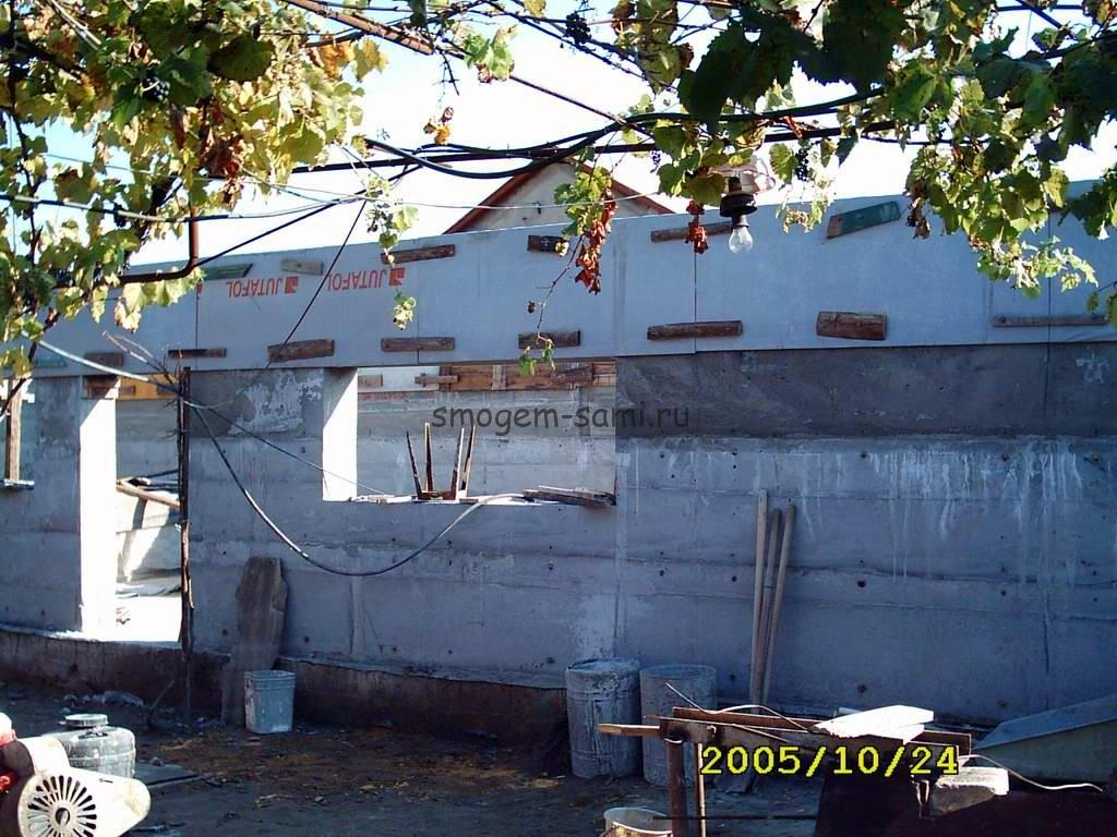 строительство монолитного дома шагающая опалубка фото