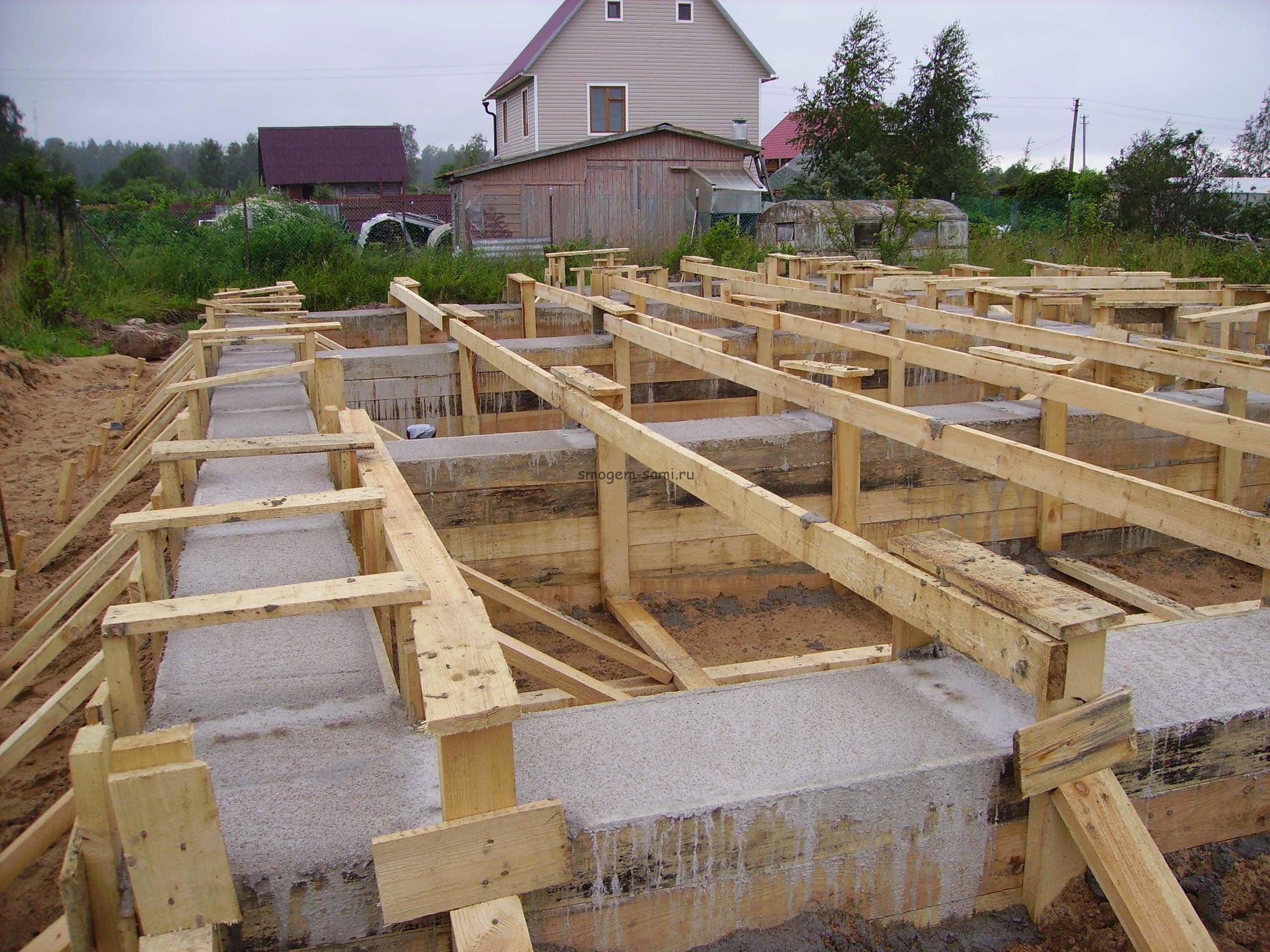 Фундамент под деревянный сарай