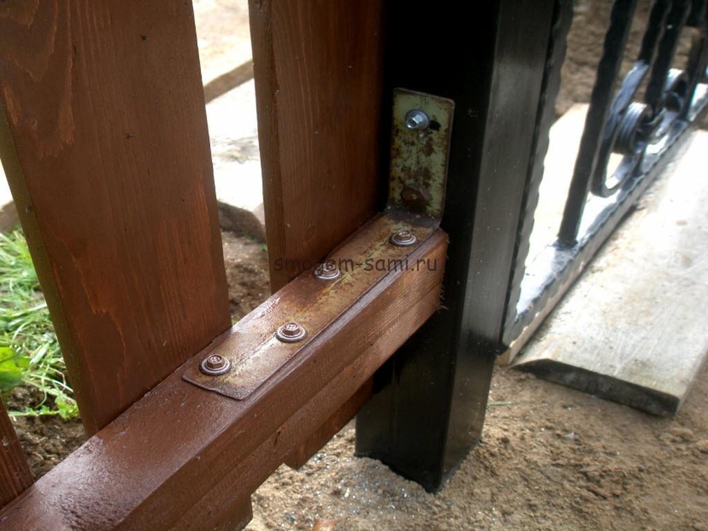 Как установить калитку к забору из штакетника своими руками