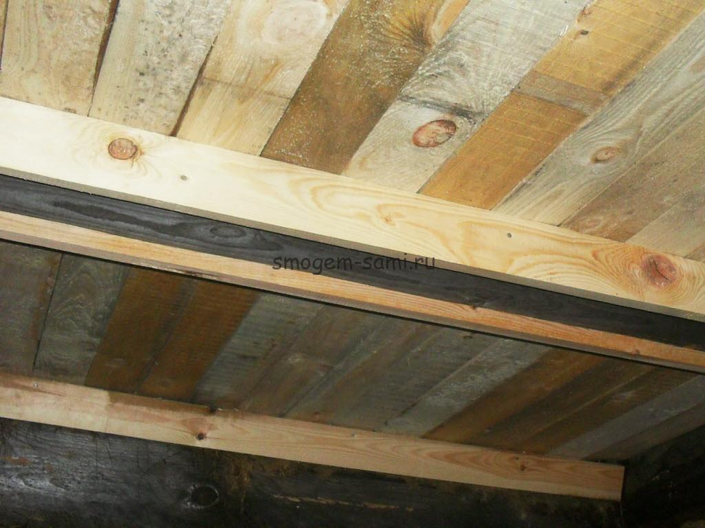 отделка деревянных перекрытий