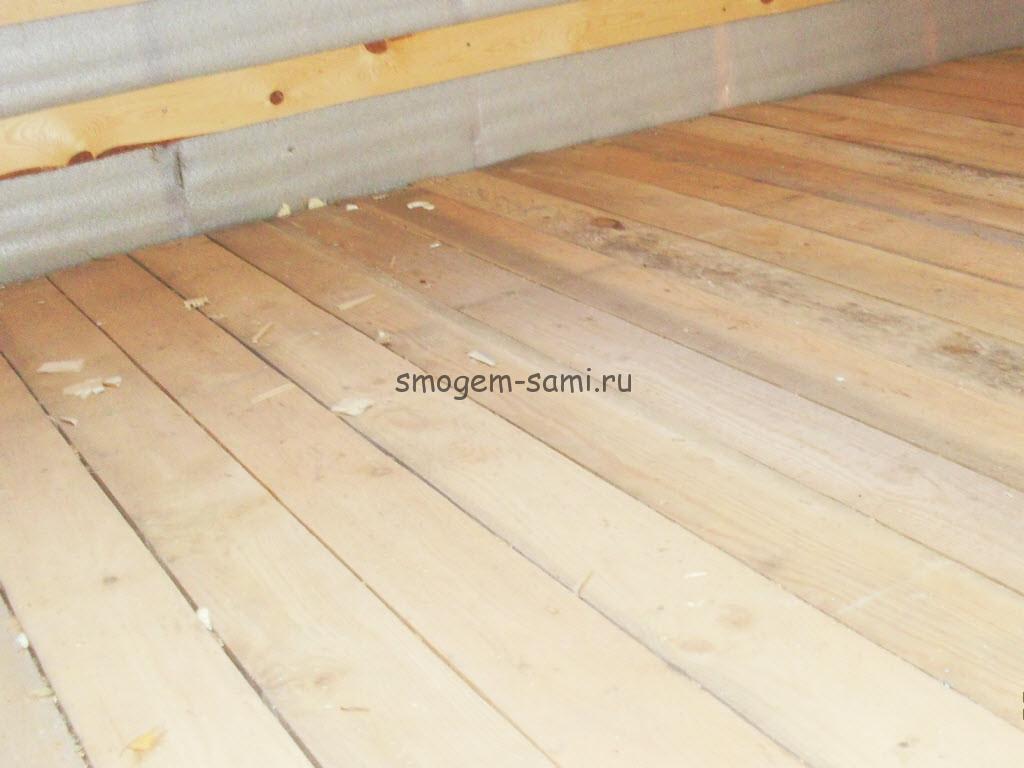Отделка деревянных перекрытий готова!