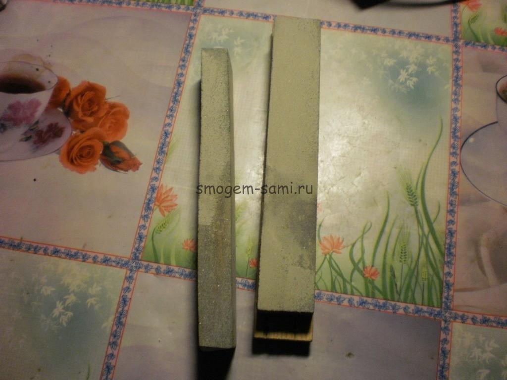 самоделтный точильный брусок для ножей фото