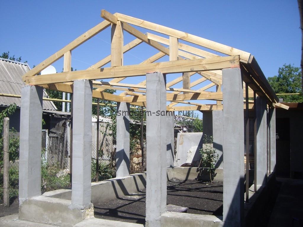 постройка теплицы из бетона фото