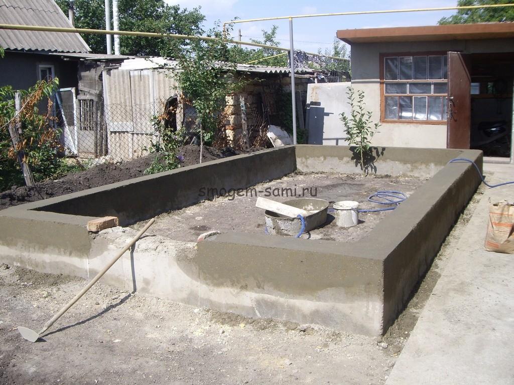 постройка теплицы из бетона своими руками фото