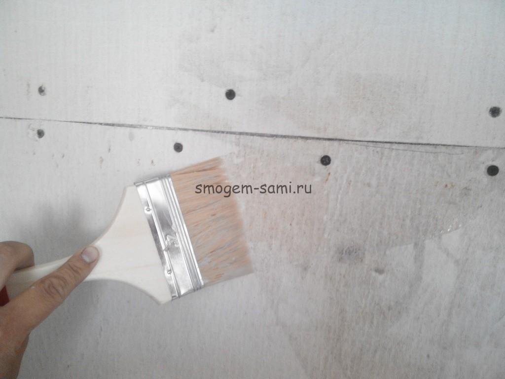 стекломагниевый лист заделка стыка (шва) фото