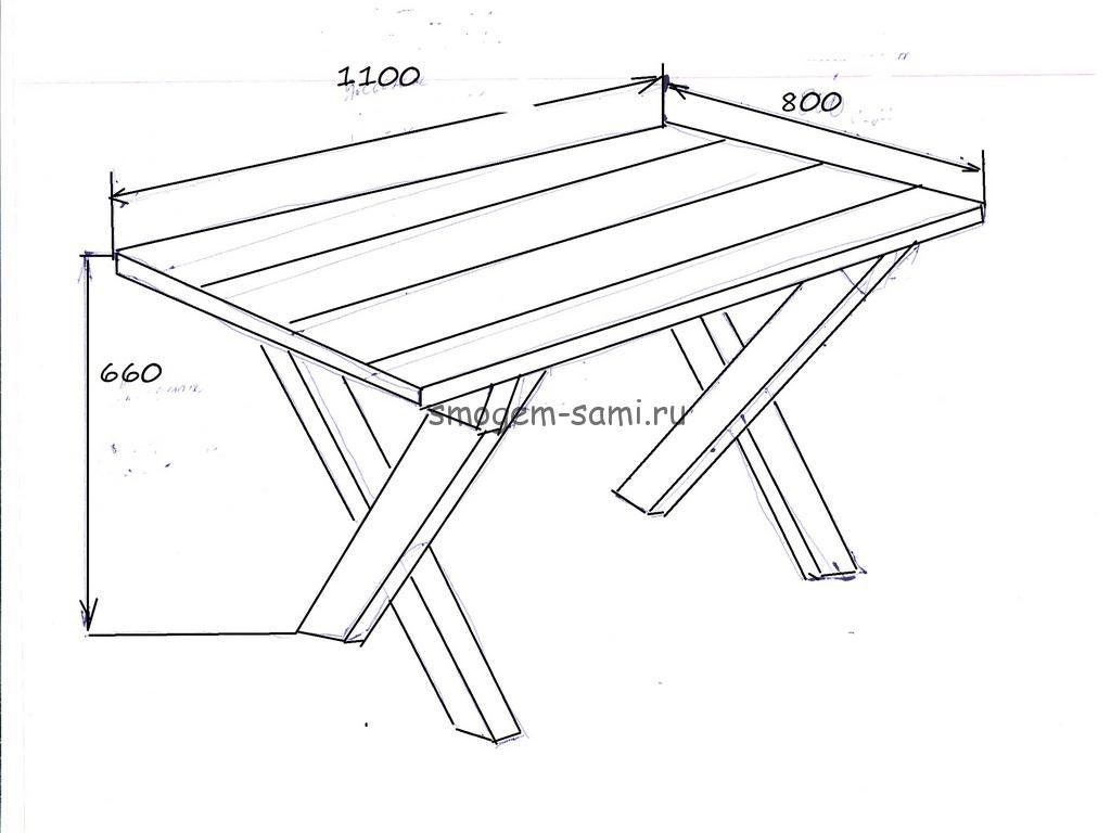 уличный столик своими руками фото