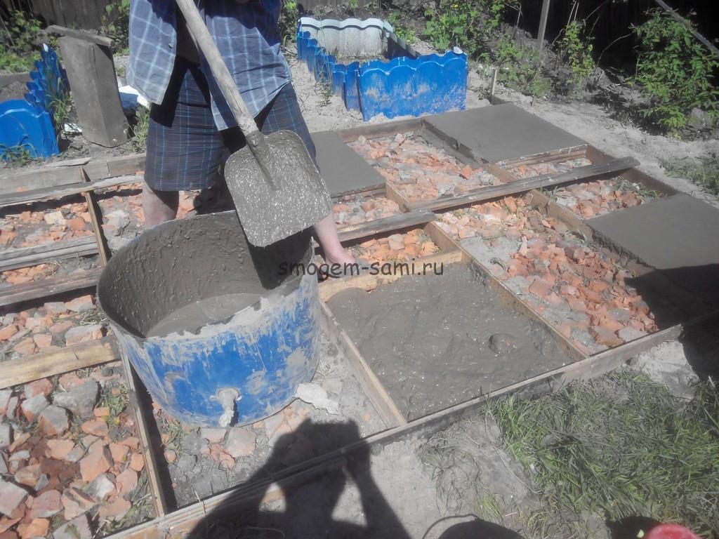 бетонная площадка на даче руками