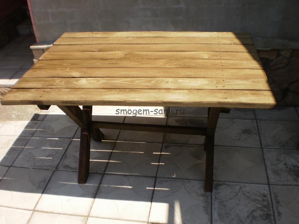 деревянный уличный столик своими руками как сделать фото