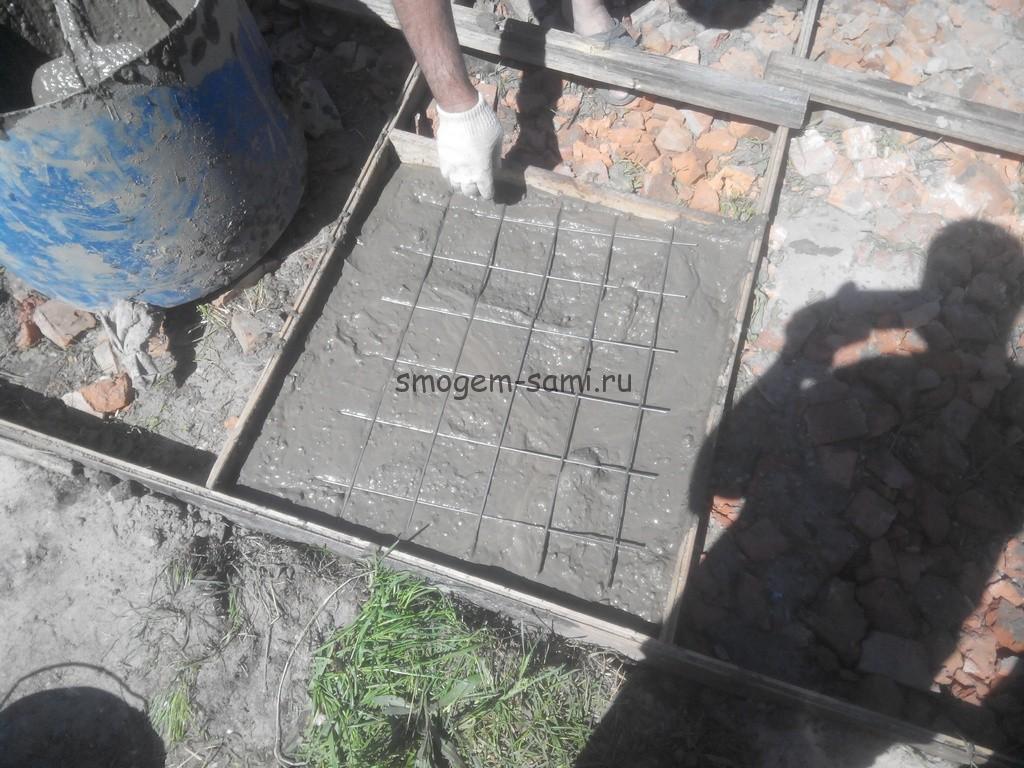 как сделать бетонную площадку своими руками фото