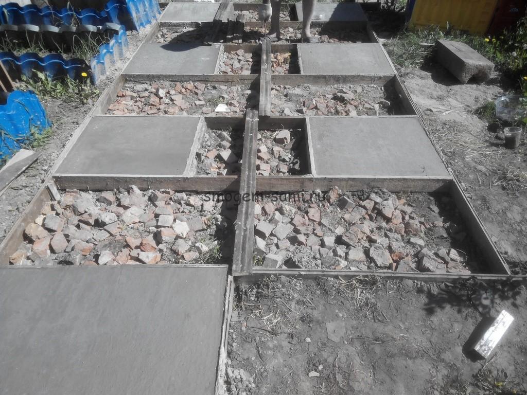 на даче бетонная площадка фото