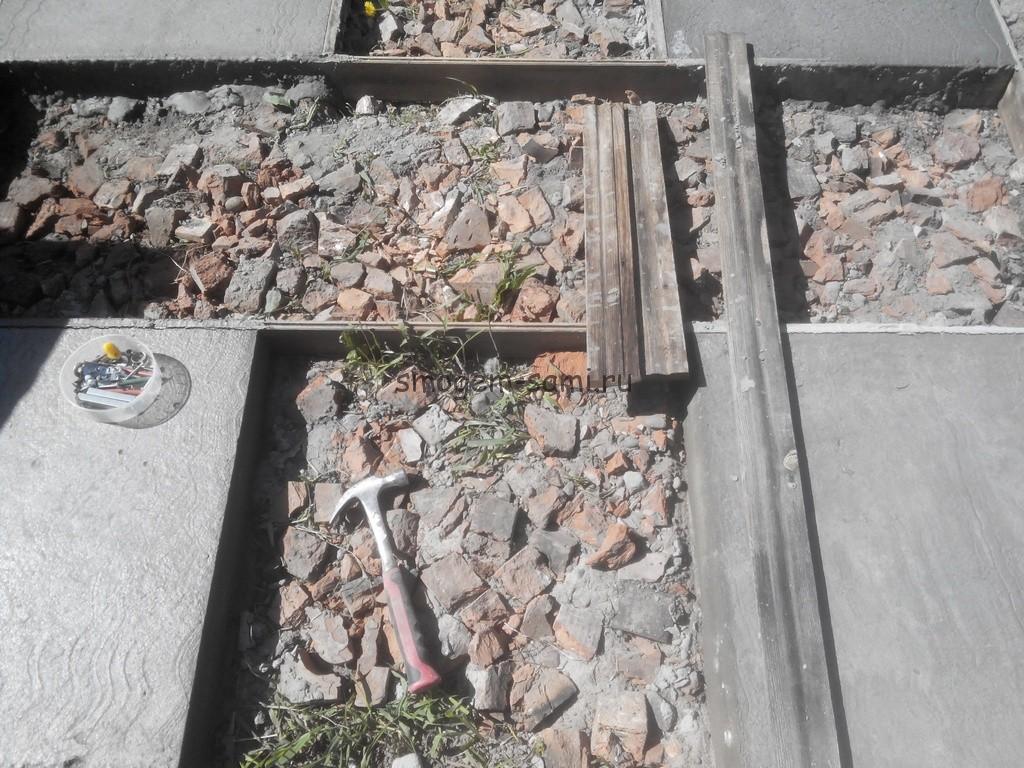 бетонная площадка как сделать на даче фото