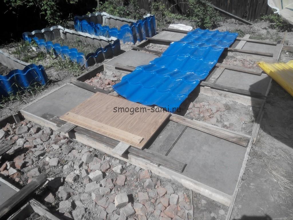 Бетонная площадка на даче
