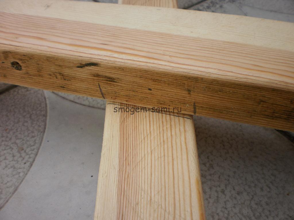как сделать из дерева уличный столик фото