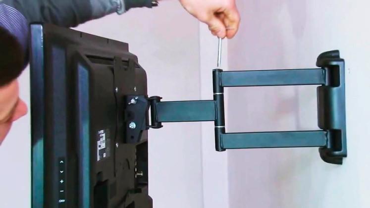 Как сделать поворотный кронштейн для телевизора на стену
