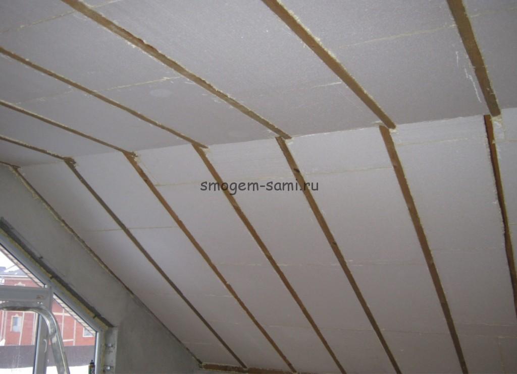 Утепление крыши с помощью пенополистирола