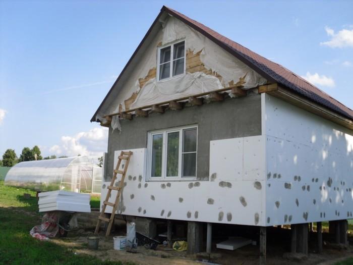 Наружная теплоизоляция фасада дома