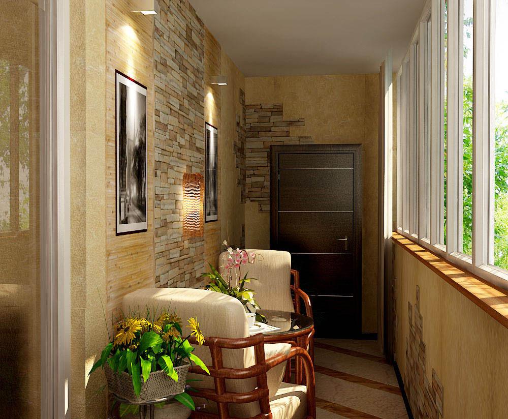 Отделка балконов и лоджий дизайн