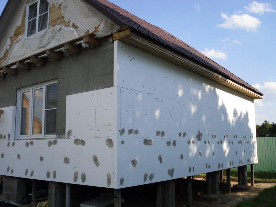 Пенополистирол технология утепления фасада своими руками 76