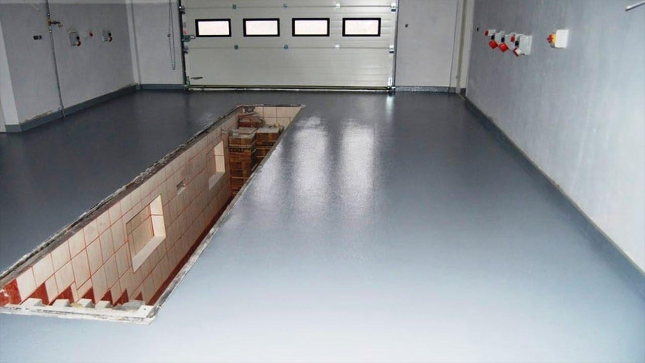 Бетонные полы в гараже фото
