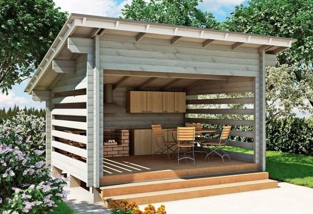 Летняя кухня на даче фото3