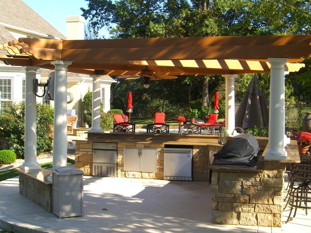 Летняя кухня на даче фото7