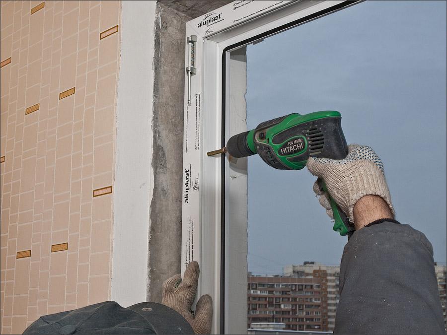 Установка балконного блока: инструкция.