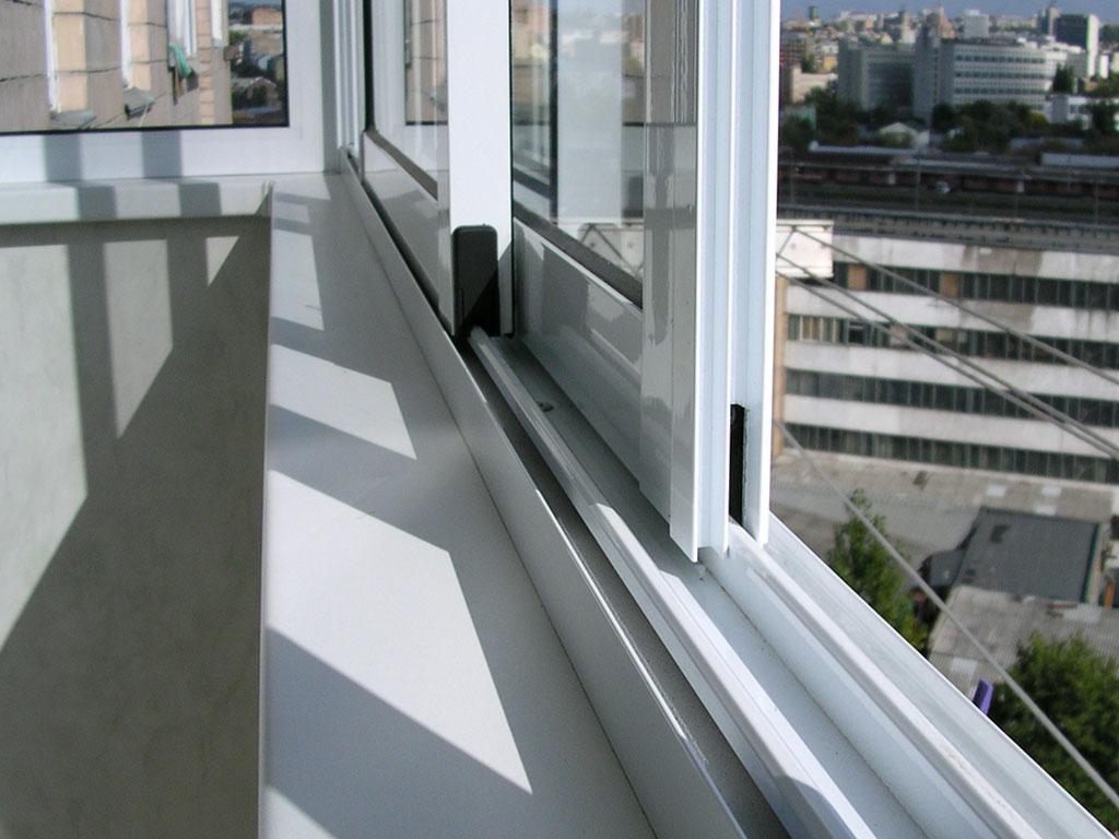 Алюминиевое остекление балконов фото