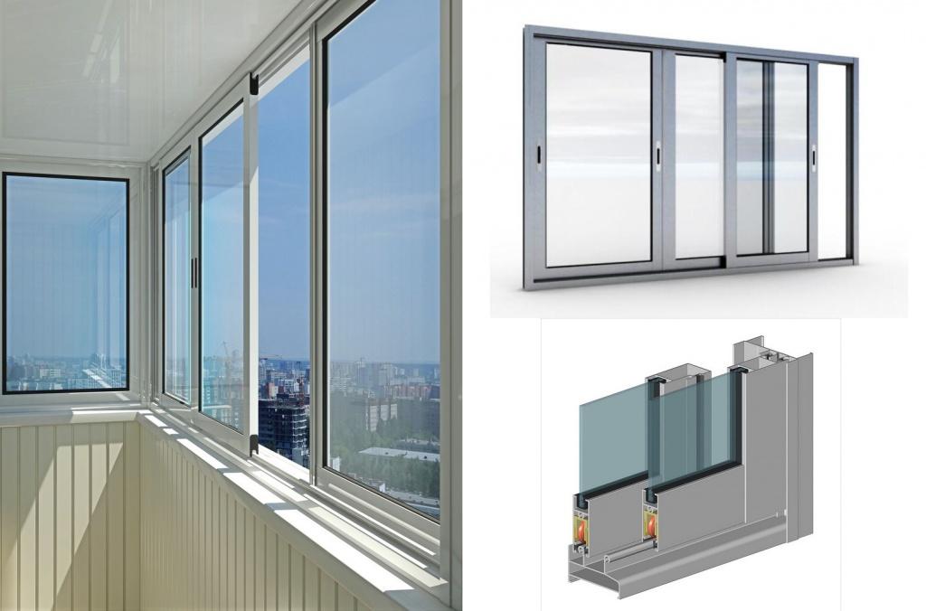 Алюминиевое остекление балконов фото2