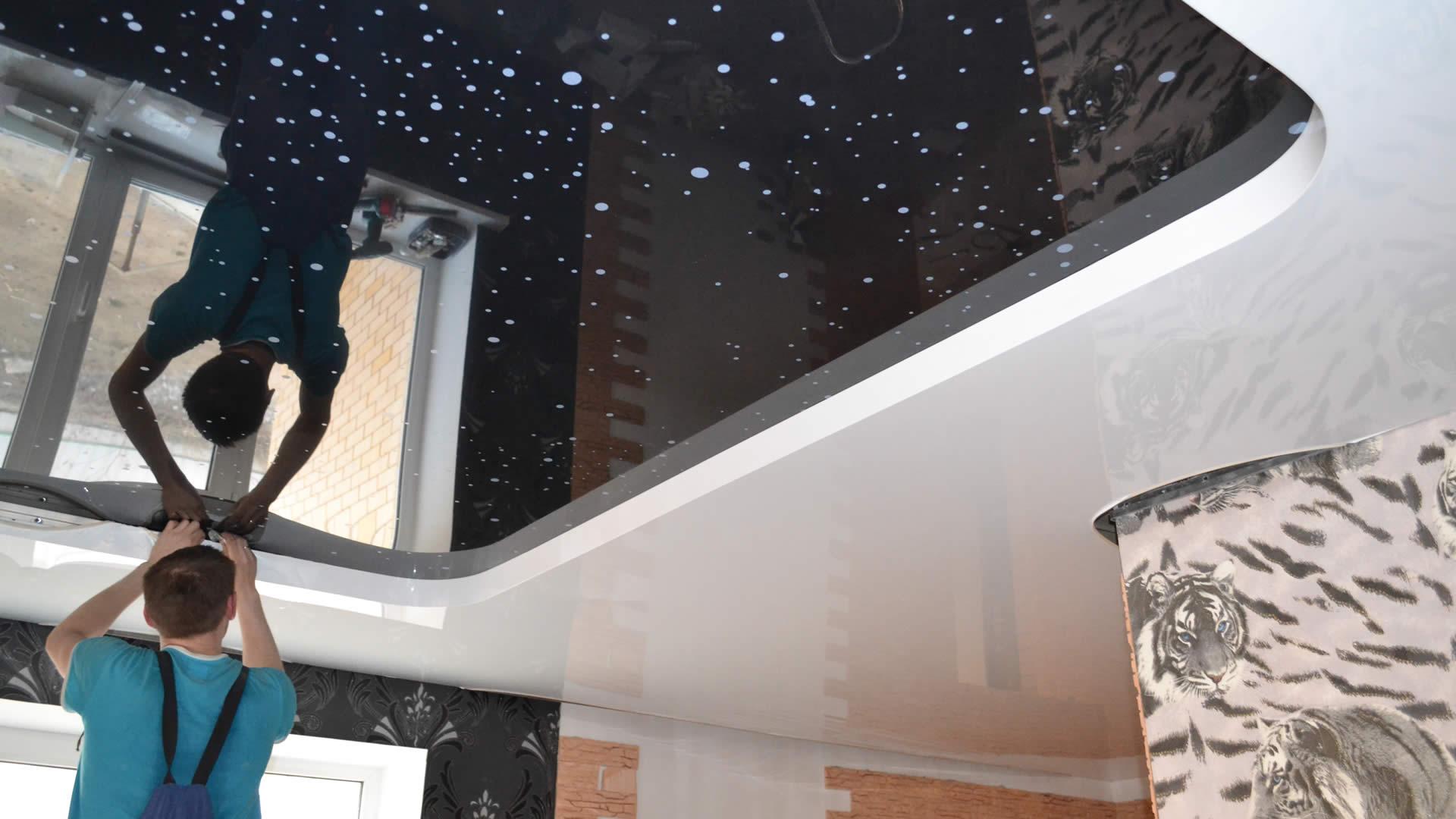 Пленочные натяжные потолки фото