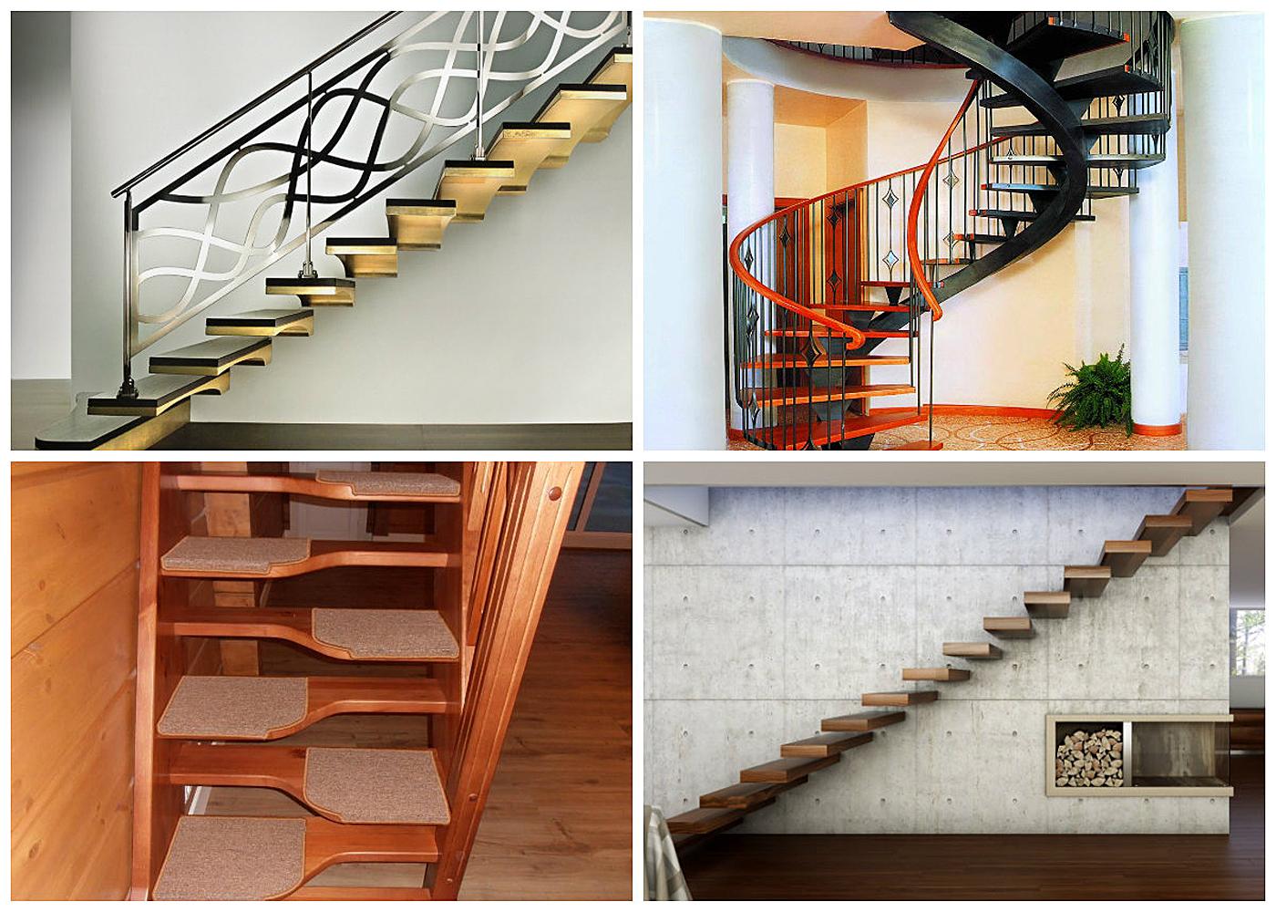 Виды и отличия лестниц фото