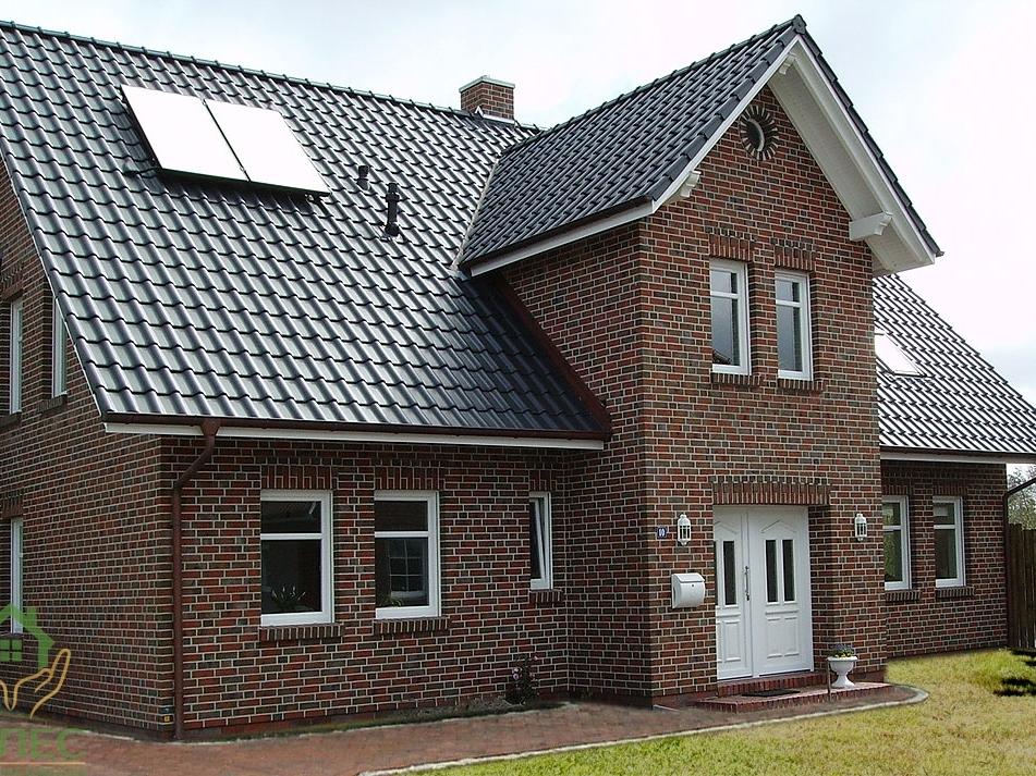 Дом из клинкерного кирпича фото