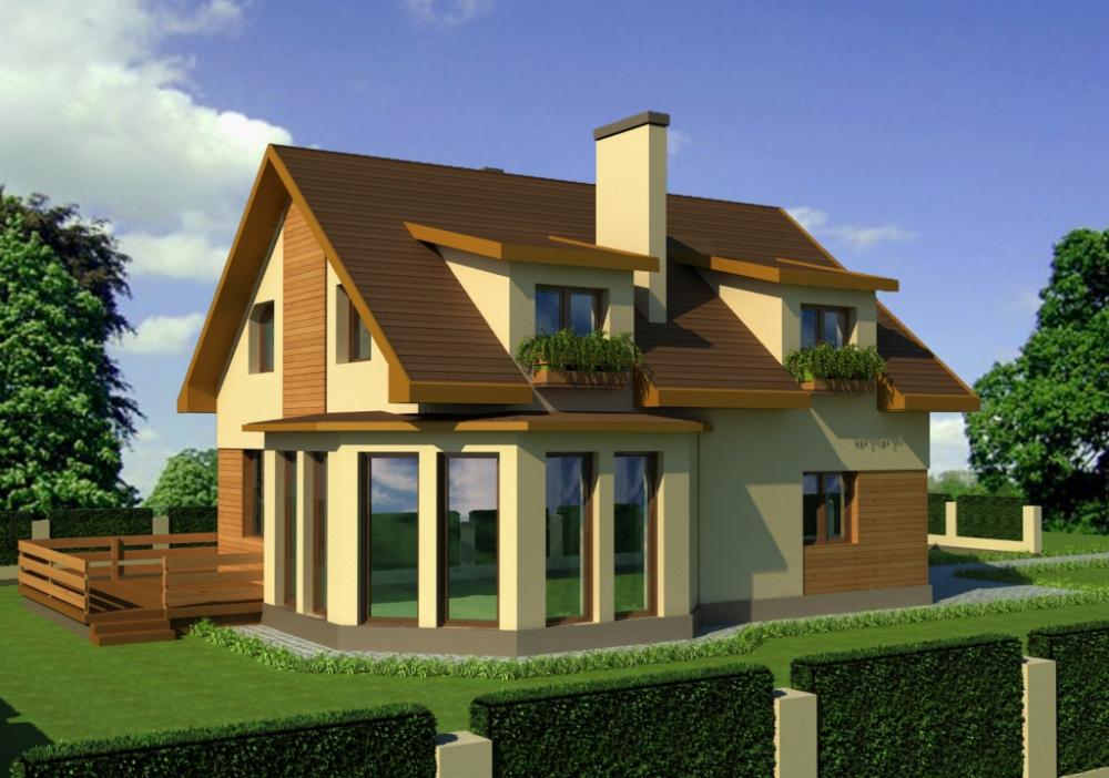 Готовые проекты домов и коттеджей фото