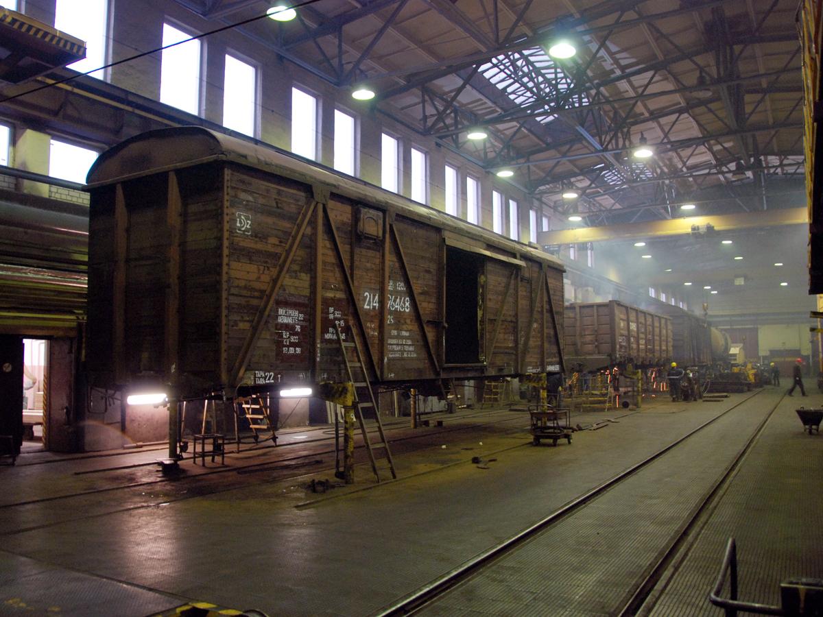 Деповской ремонт грузовых вагонов фото