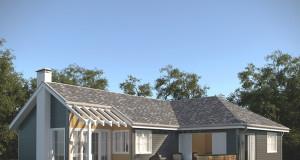 Популярность одноэтажных каркасных домов